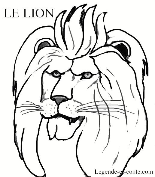 Dessin Mandala Lion A Imprimer