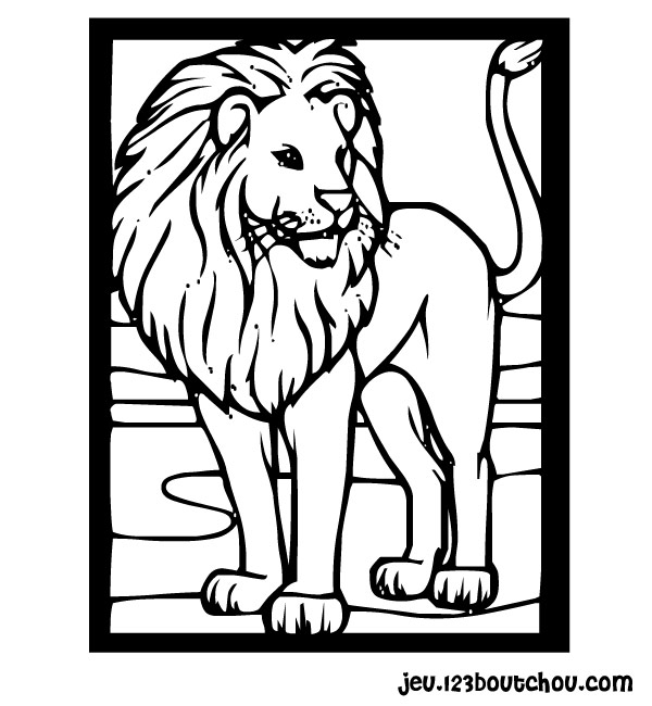 dessin tete de lion a imprimer. Black Bedroom Furniture Sets. Home Design Ideas