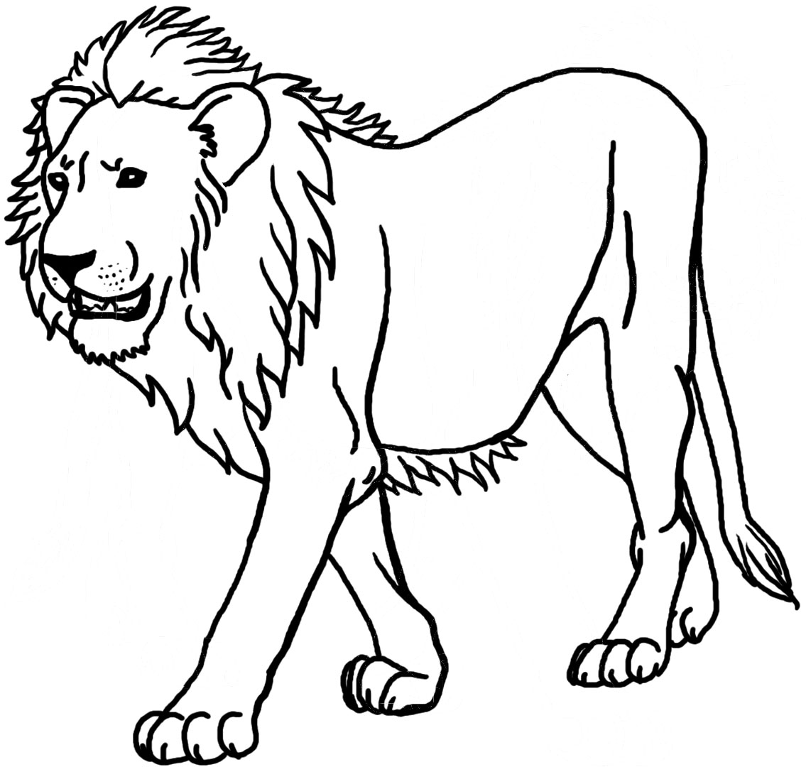Coloriage de lion en couleur - Photo de lion a imprimer en couleur ...