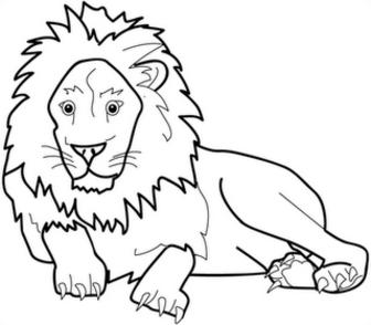 coloriage � dessiner lion de n�m�e