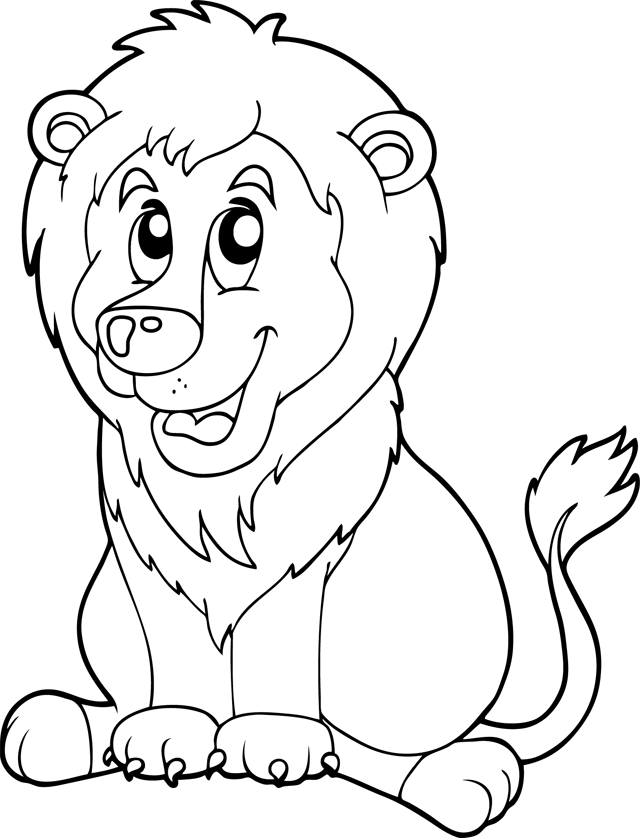 Coloriage dessiner lion facile - Coloriages lion ...