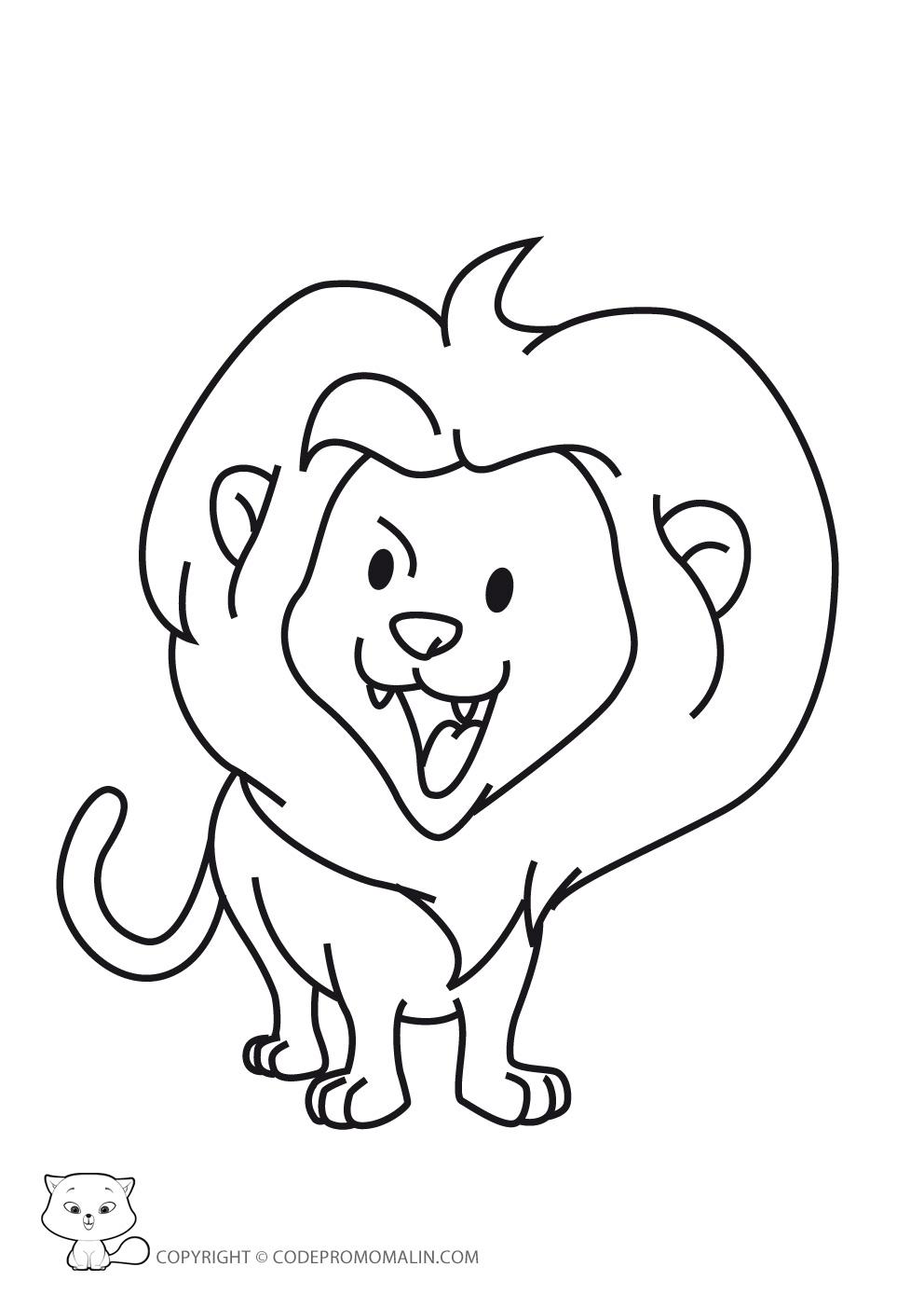 Lion le roi lion bebe coloriage - Roi lion dessin ...