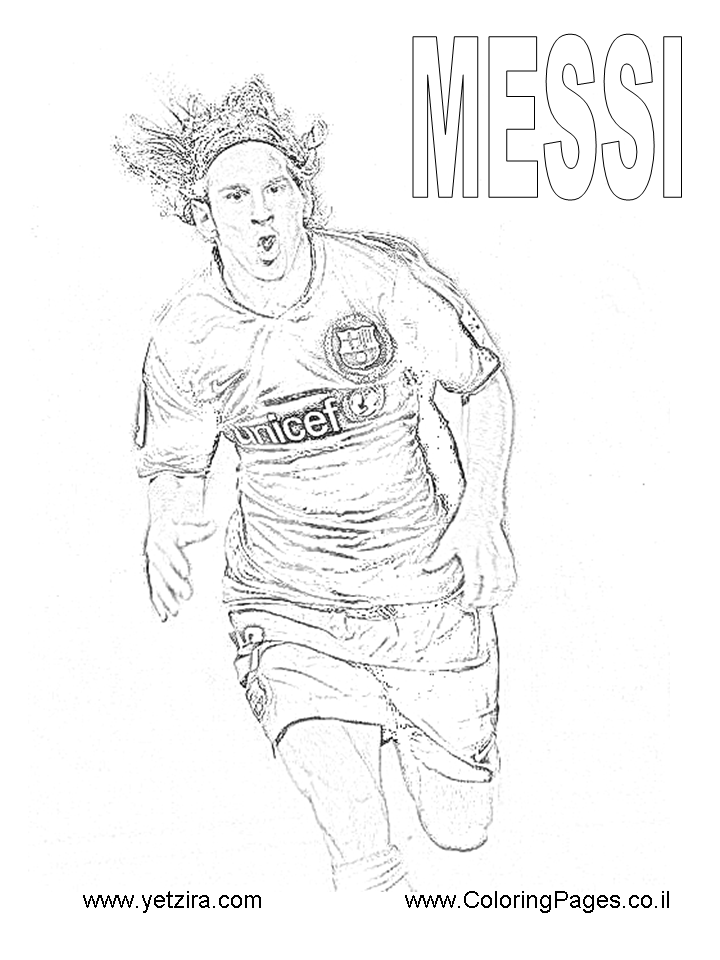 Pictures Of Soccer Player Messi Coloring Pages Rock Cafe