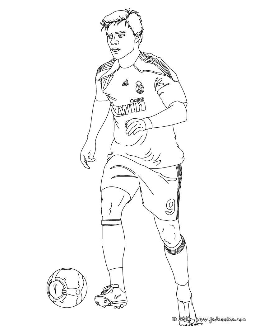 soccer coloring pages ronaldo hair - photo#19