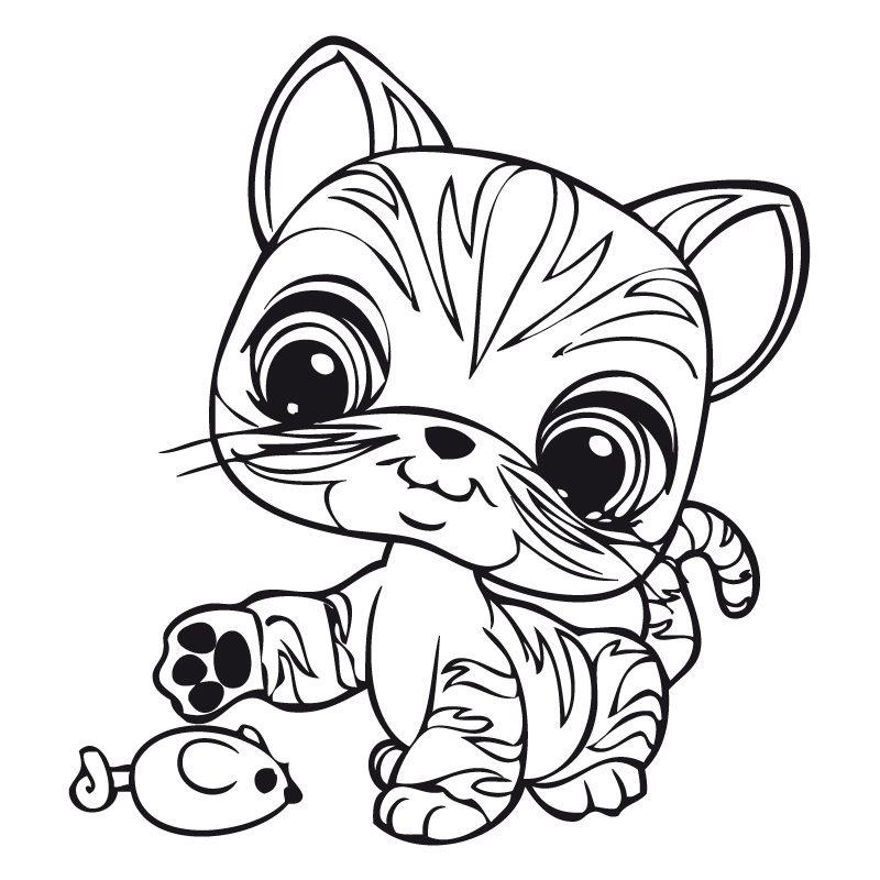 11 dessins de coloriage Littlest