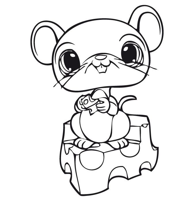 dessin à colorier littlest petshop