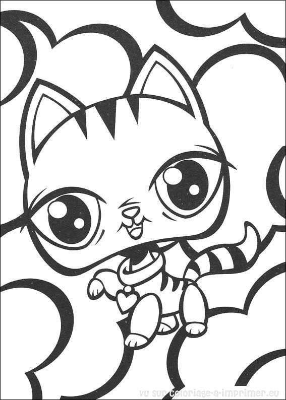 coloriage à dessiner littlest pet shop blythe