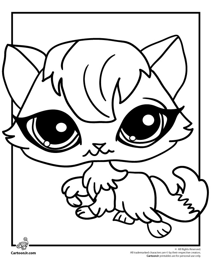 Littlest pet shop dessin - Dessin a colorier petshop ...
