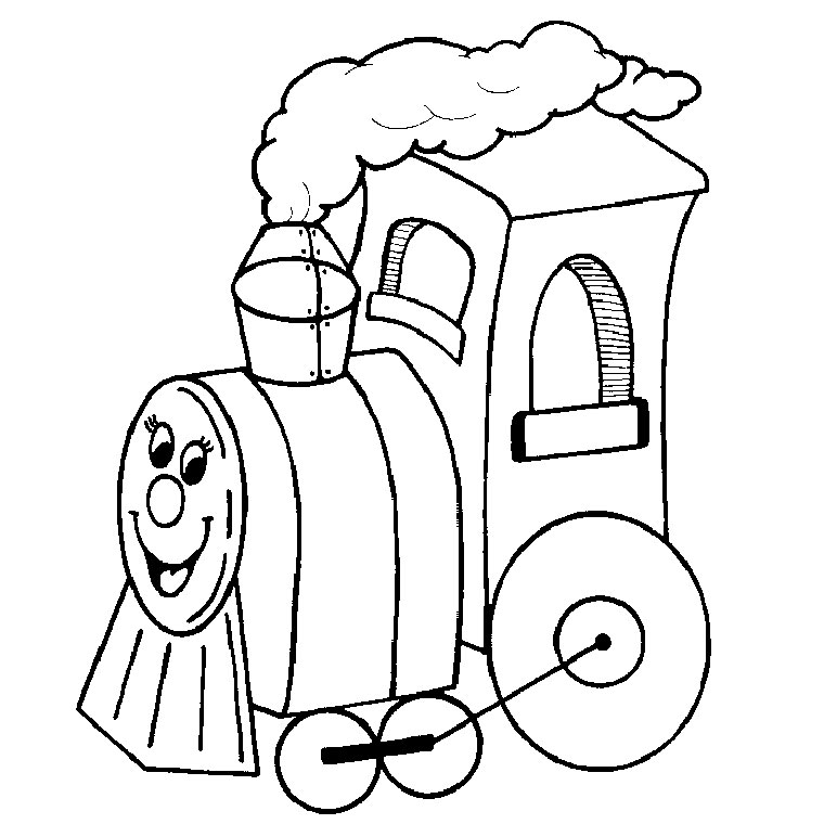 coloriage train locomotive