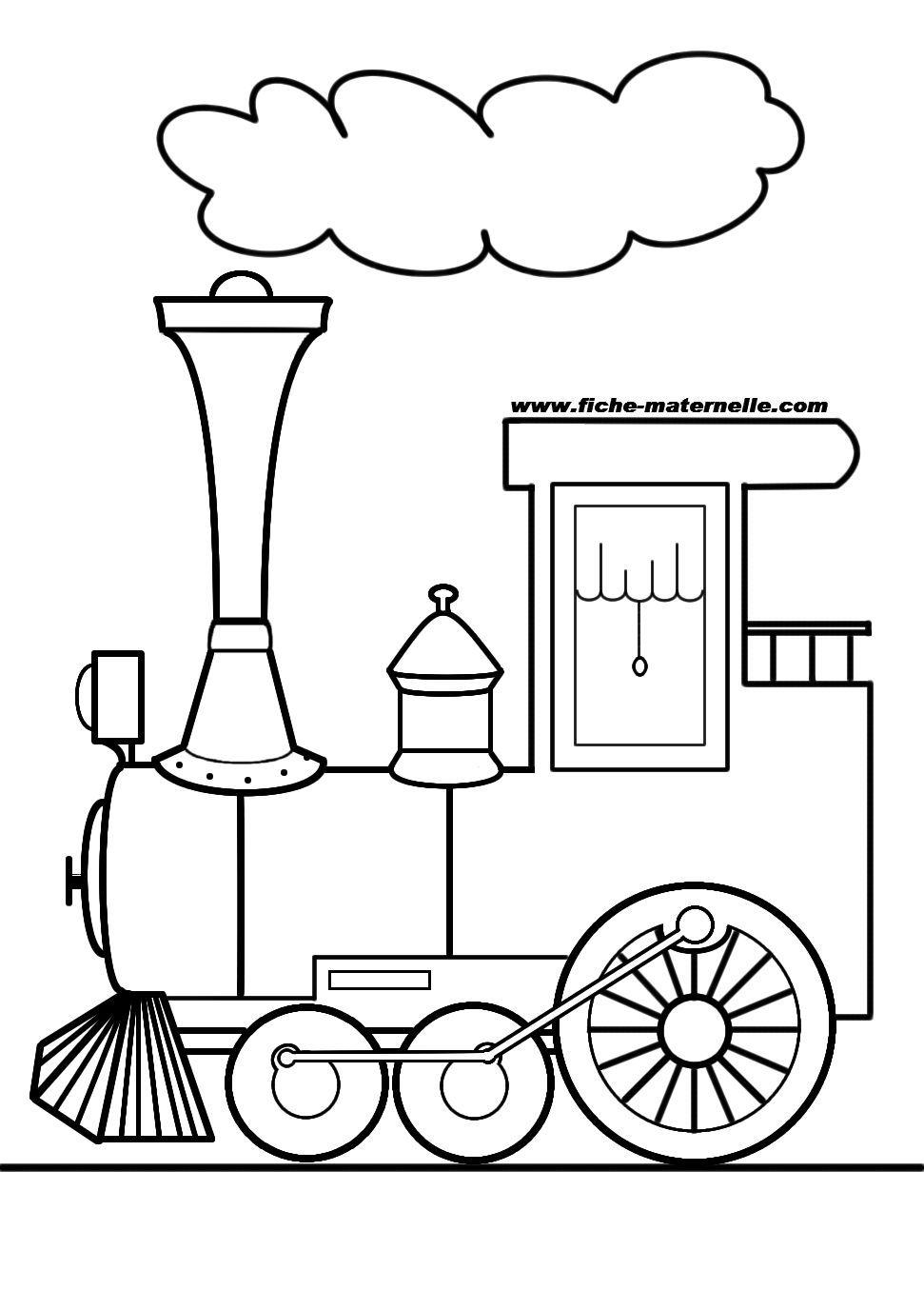 dessin à colorier gratuit de locomotive