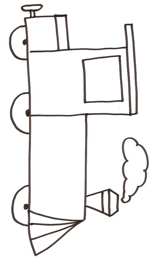 dessin locomotive à imprimer