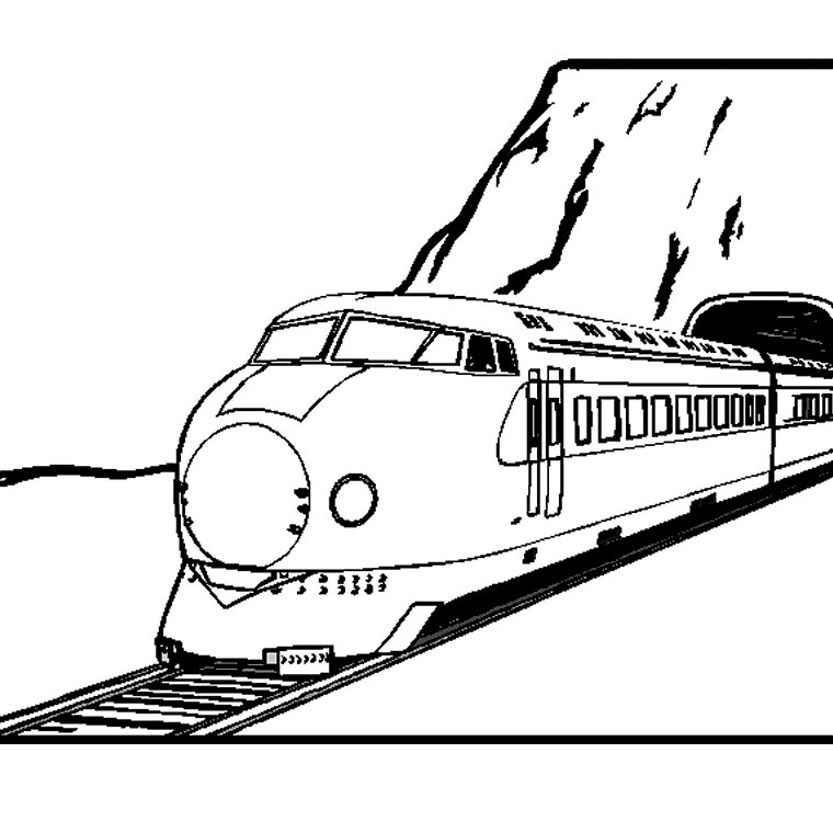 coloriage locomotive a imprimer