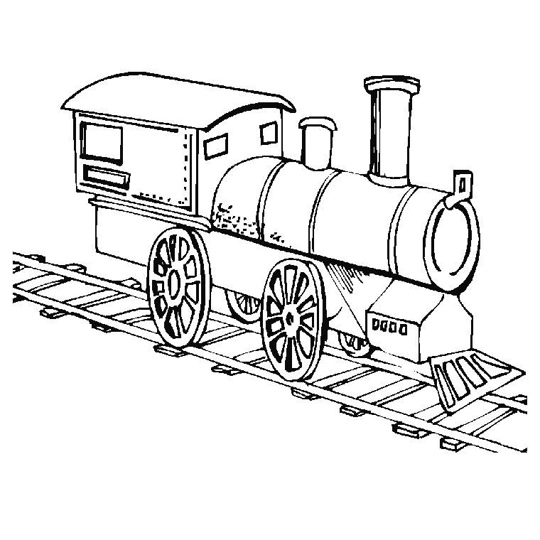 coloriage de locomotive à vapeur