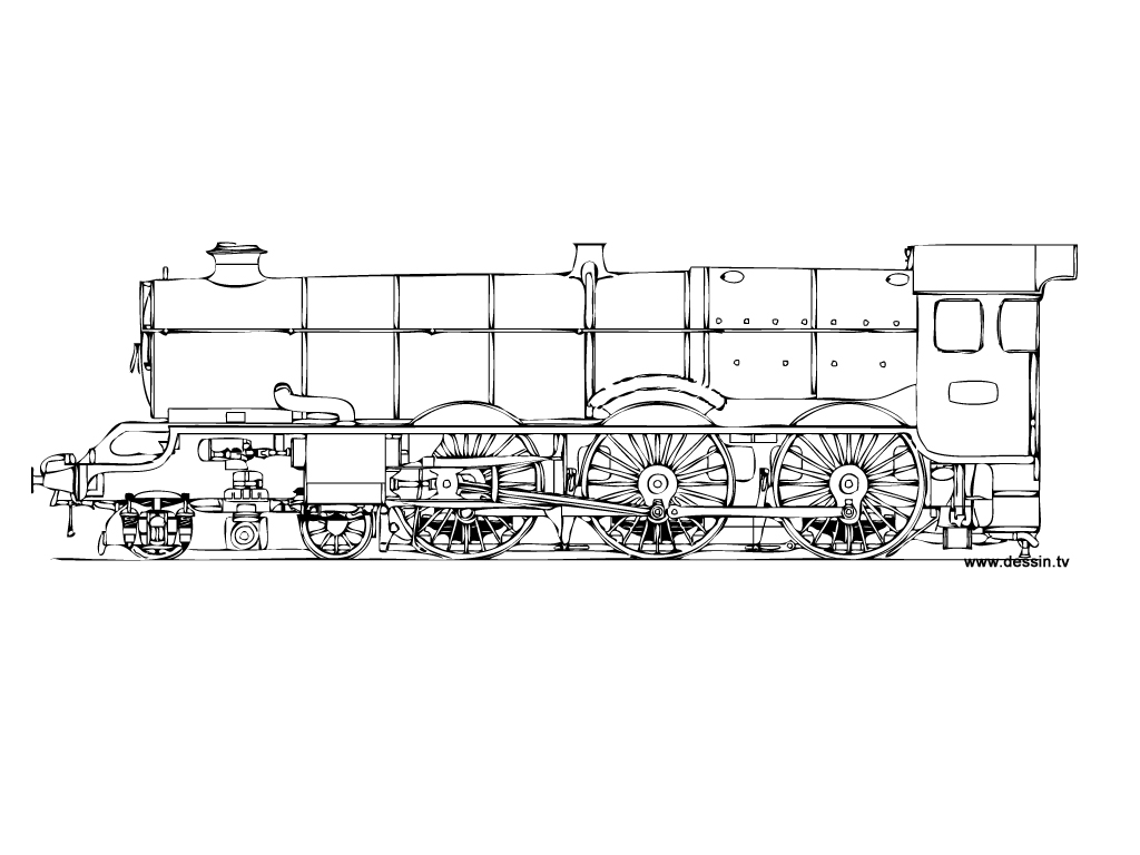 coloriage de locomotive a imprimer