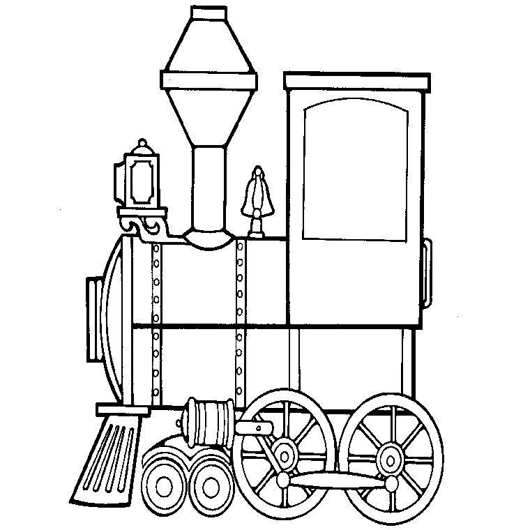 dessin à colorier locomotive et wagons