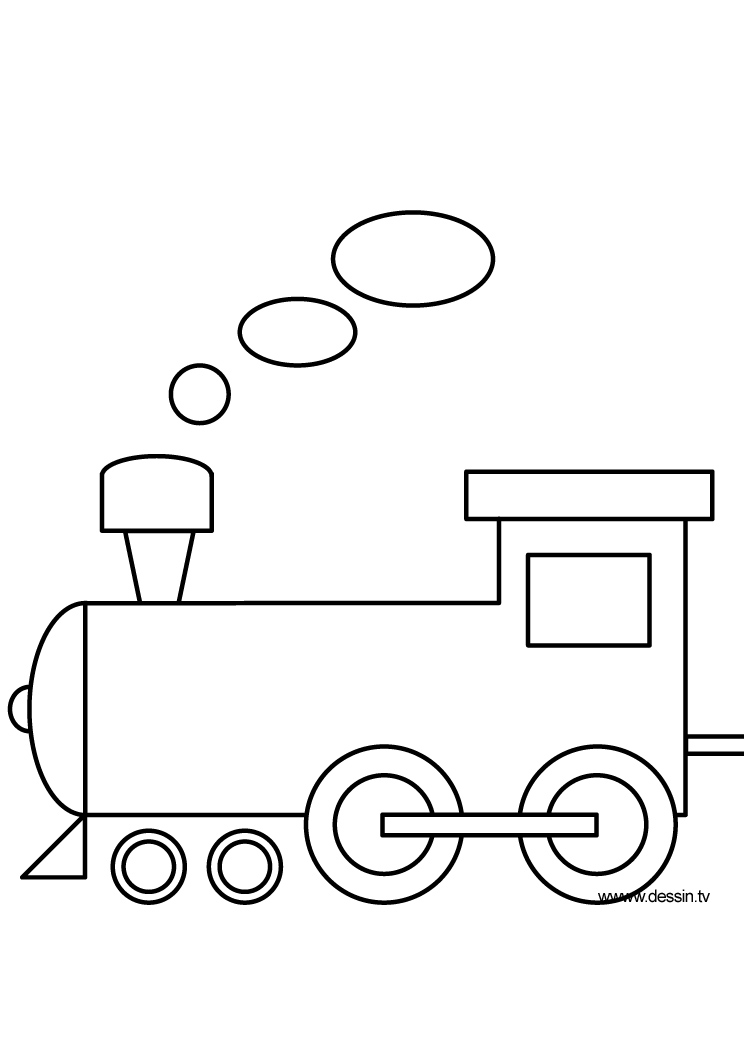 dessin de locomotive
