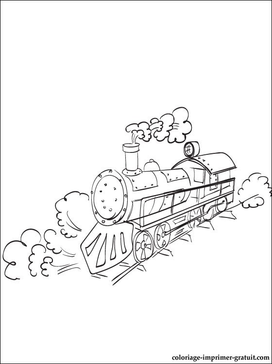 coloriage train et locomotive
