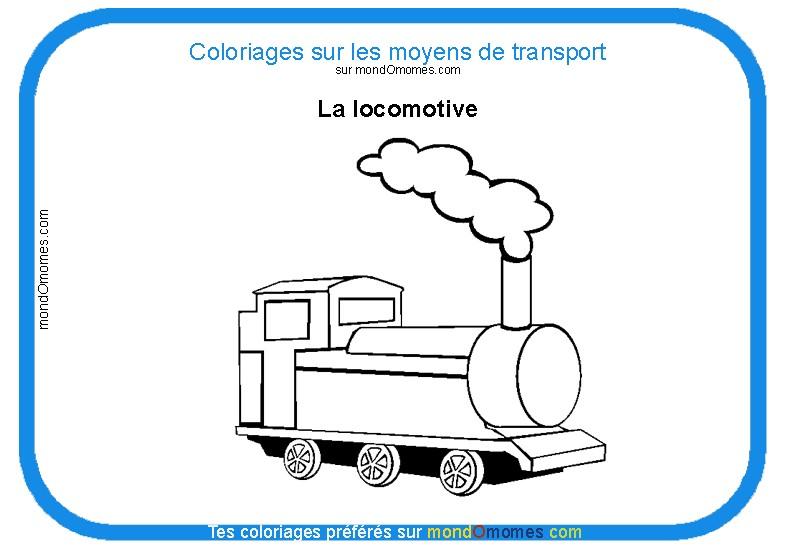 dessin imprimer gratuit locomotive