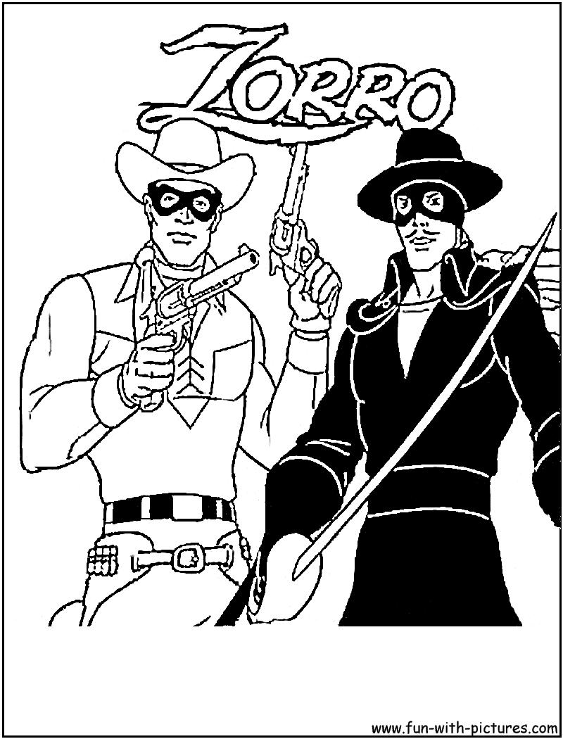 147 dessins de coloriage Lone Ranger imprimer