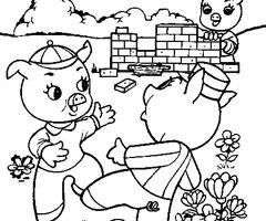 18 dessins de coloriage loup 3 petit cochons imprimer - Dessin des 3 petit cochon ...