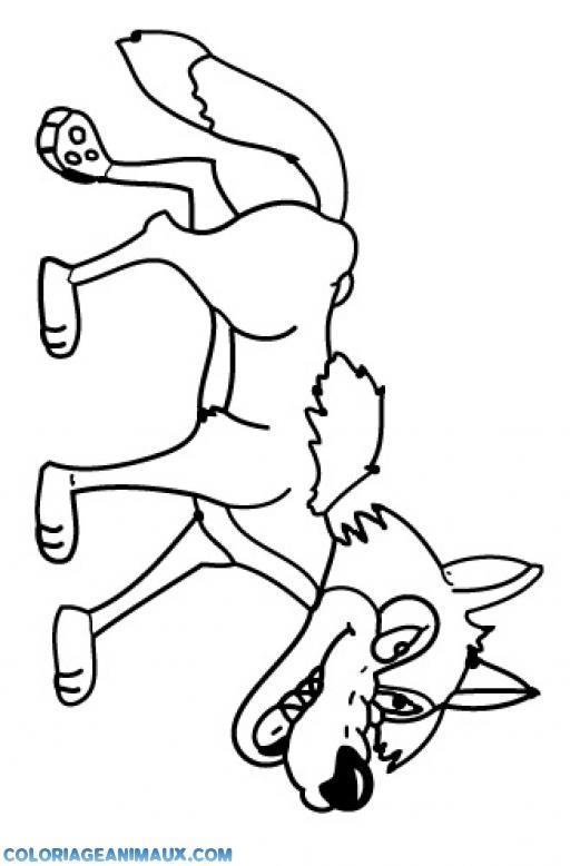 18 dessins de coloriage loup 3 petit cochons imprimer - Petit loup dessin ...