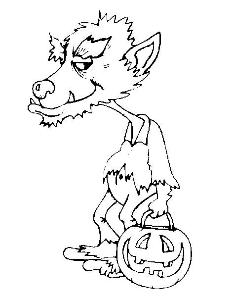 19 dessins de coloriage loup garou imprimer - Loup a imprimer ...