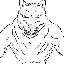 19 dessins de coloriage loup garou imprimer - Apprendre a dessiner un bison ...
