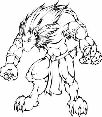 19 dessins de coloriage loup garou imprimer - Image de dessin de loup ...