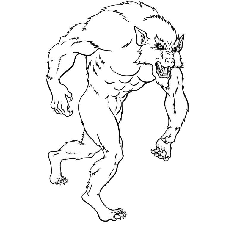 19 dessins de coloriage loup garou imprimer - Coloriage de loup ...