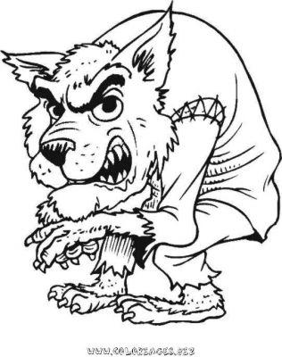 19 dessins de coloriage loup garou imprimer - Dessin monstre halloween ...