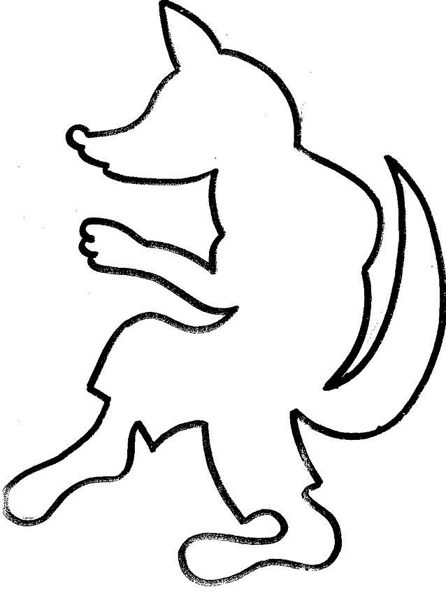 Coloriage204 coloriage loup maternelle - Image loup dessin ...
