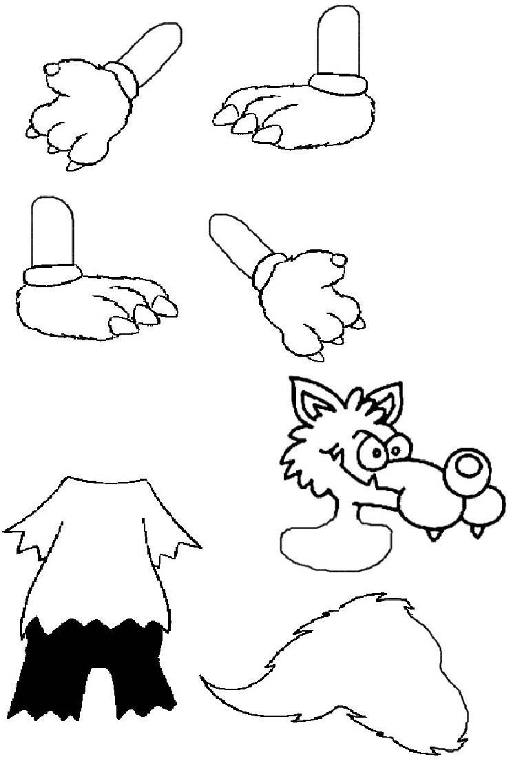 19 dessins de coloriage loup maternelle imprimer - Coloriage travail ...