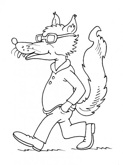 124 dessins de coloriage loup imprimer - Dessiner un loup facilement maternelle ...