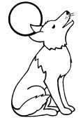 coloriage à dessiner un loup