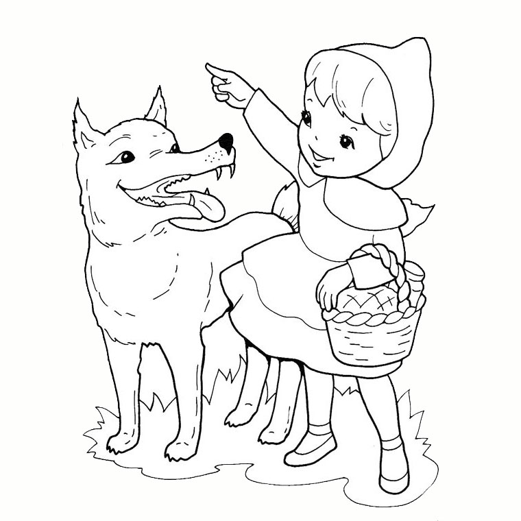 dessin à colorier loup lallemand