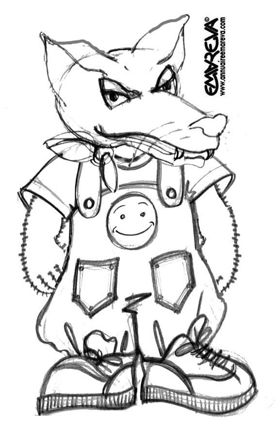 Dessin colorier loup maternelle - Image loup dessin ...