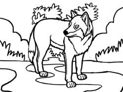 dessin à colorier sonic loup garou imprimer