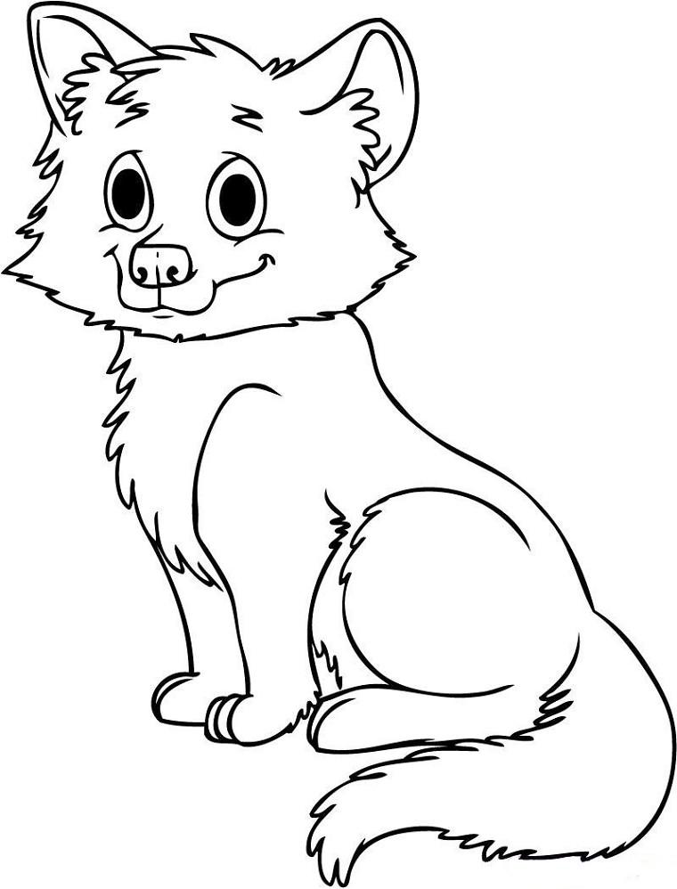 dessin bébé loup à imprimer