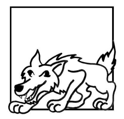 coloriage à dessiner loup et agneau a imprimer