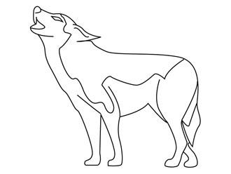 dessin à colorier loup gulli