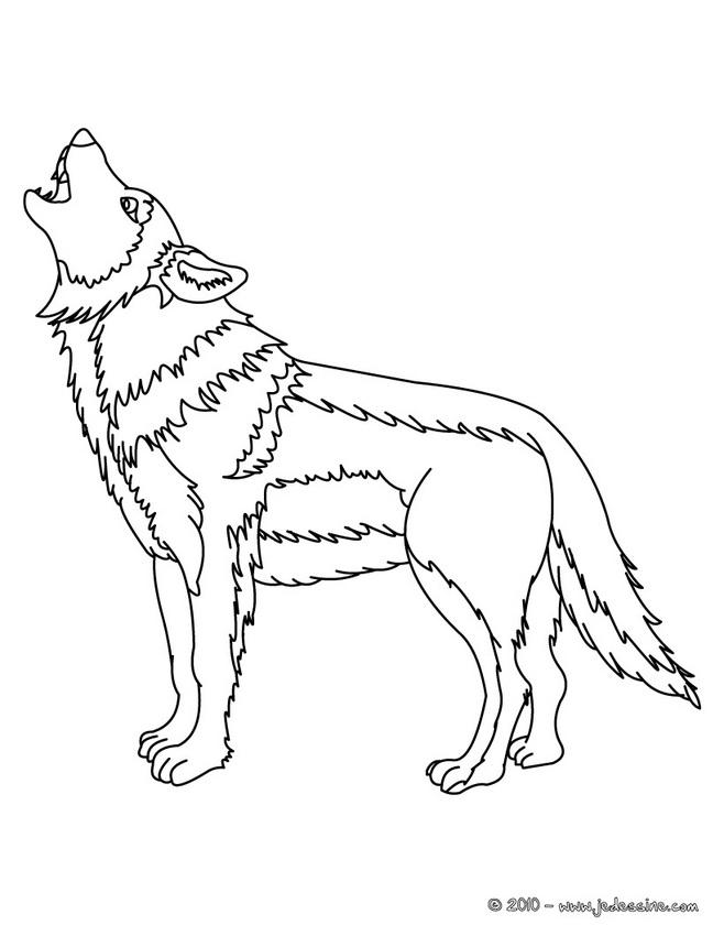 coloriage à dessiner masque loup à imprimer