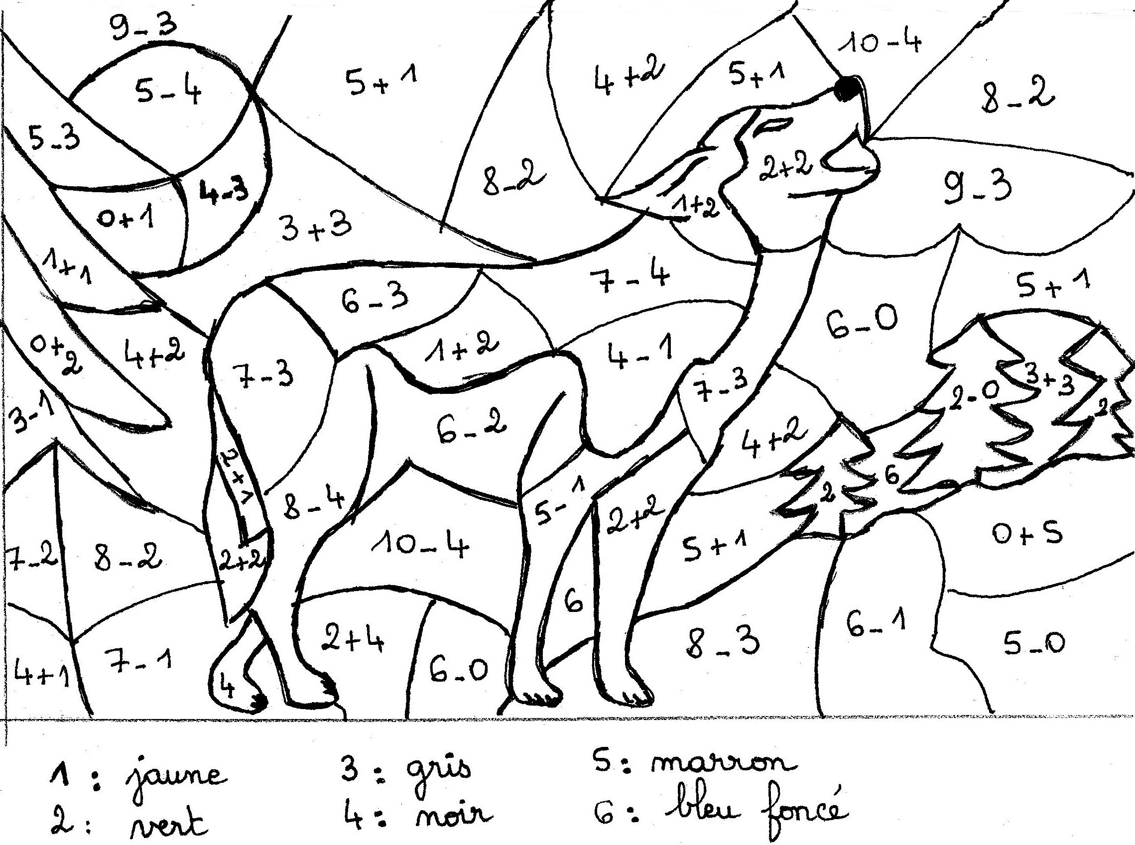 dessin le loup et les sept cabris