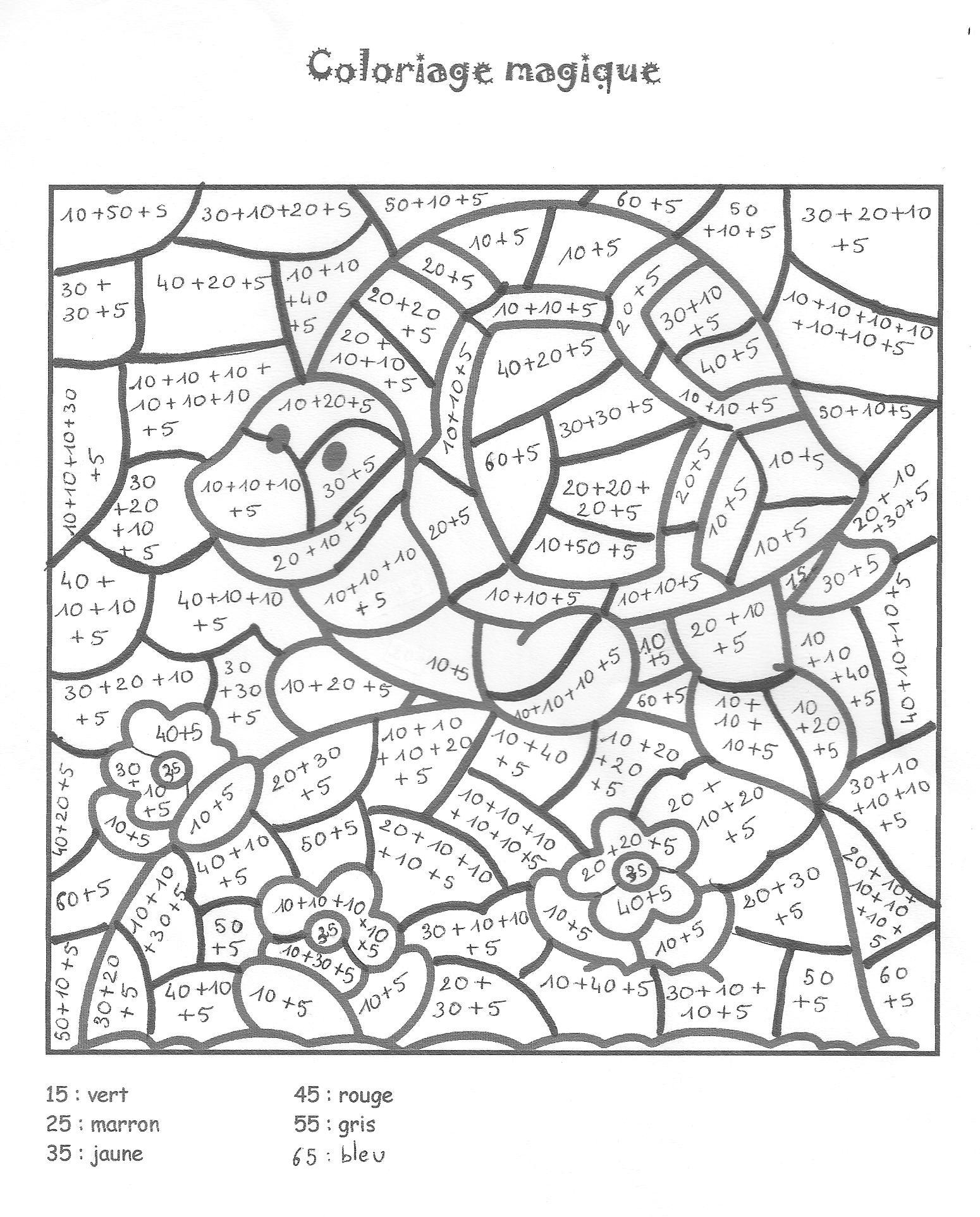 12 dessins de coloriage magic ce2 imprimer - Coloriage avec calcul ...