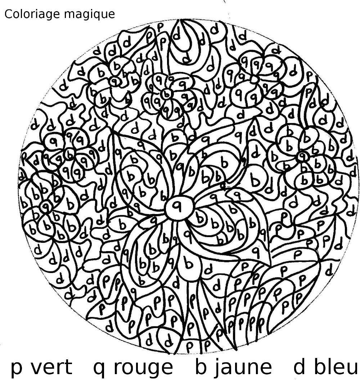 dessin � colorier magique vierge cp