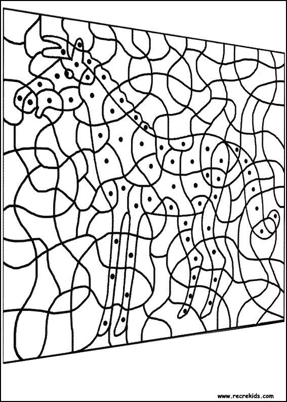 coloriage à dessiner magique lion