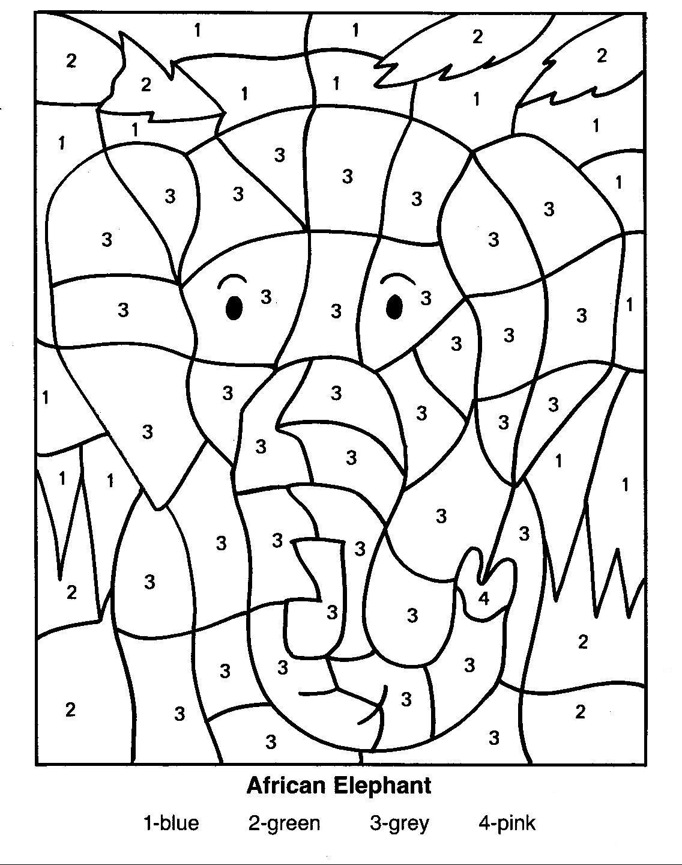 Coloriage A Imprimer Difficile Elephant.Dessin A Colorier Magique Difficile