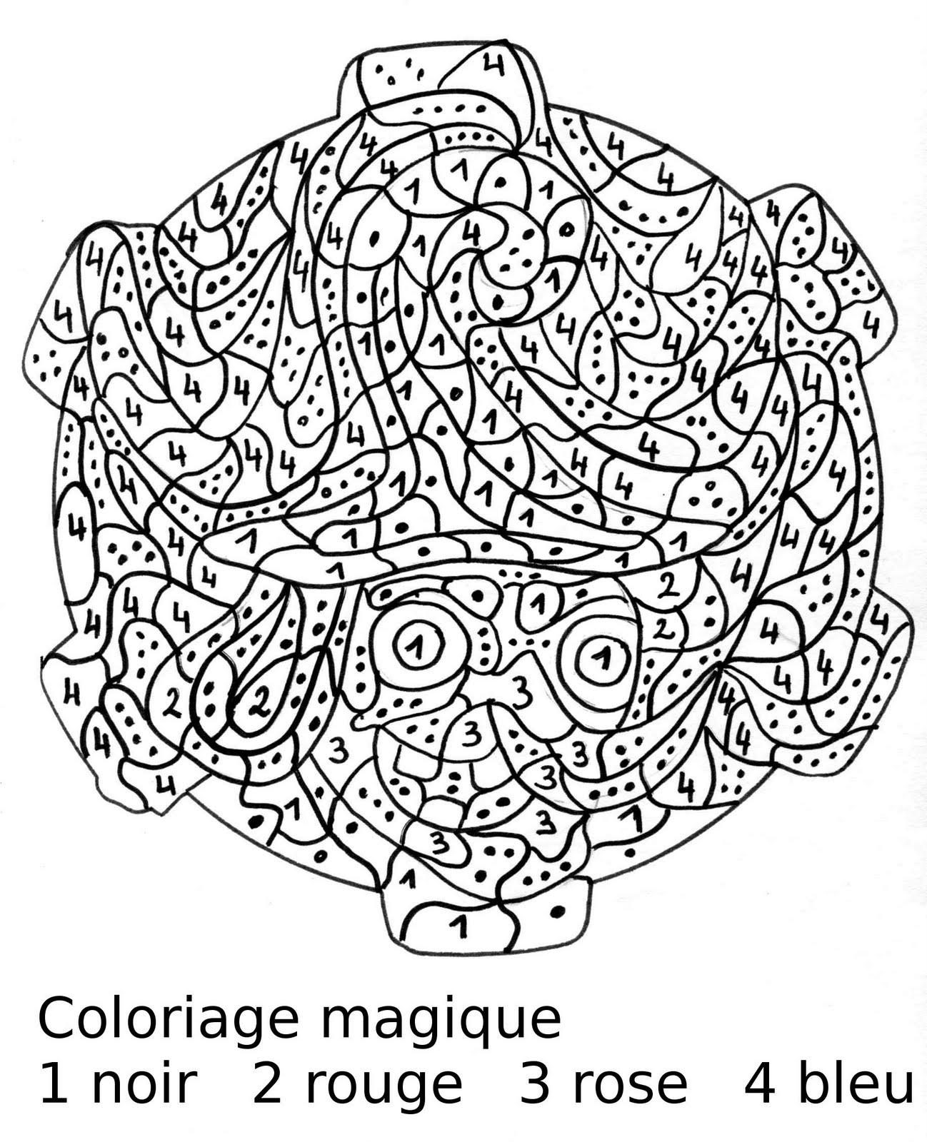 dessin à colorier magique ms