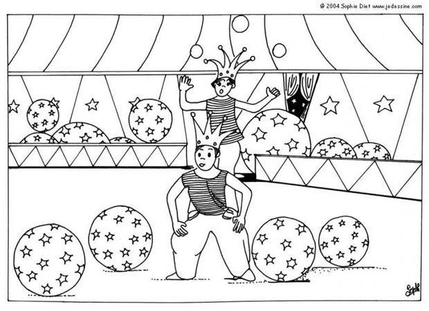 19 dessins de coloriage magicien cirque imprimer - Coloriage chapiteau ...