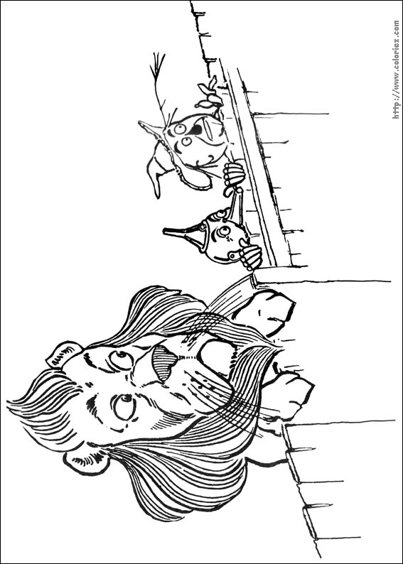 13 dessins de coloriage Magicien D'oz à imprimer