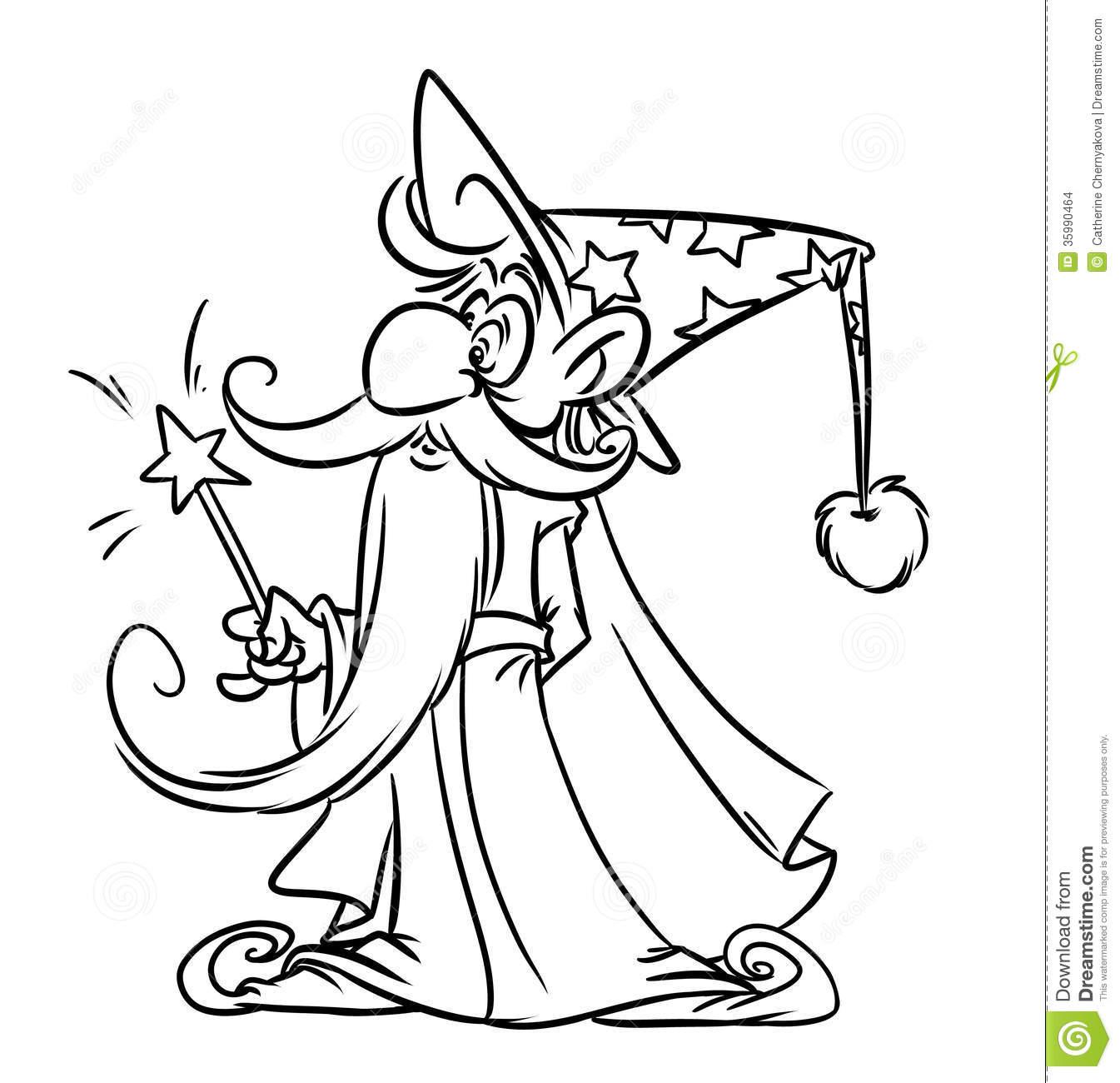 14 dessins de coloriage magicien imprimer - Magicien dessin ...